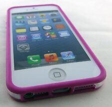 BOGO PINK CLEAR HARD TPU GEL PC HYBRID BUMPER CASE COVER APPLE IPHONE 5 5S SE