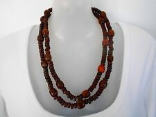 SALE Dark Red Resin Necklace was $18 NOW $14