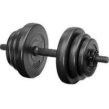 Lot d'haltères courtes poids barre disques fitness musculation biceps sport 10kg