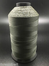 8oz Spool Gray 2100 Yards #92 Bonded Nylon Sewing Thread T90 Fabric USA Made N45