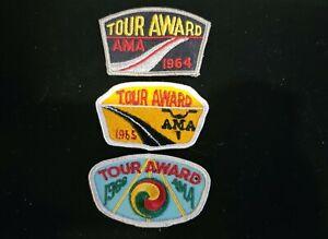 1964 1965 1966 AMA TOUR AWARD Patch Badge American Motorcycle Association LOT