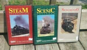Lot of 3 BETA TAPE - Betamax Video NOT VHS - US Tourist STEAM TRAINS Railroading