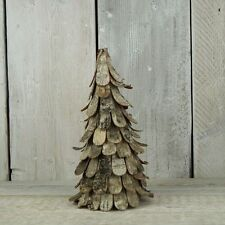 Natural Birch Bark Christmas Tree - 28cm Tall - Unusual Rustic Decoration