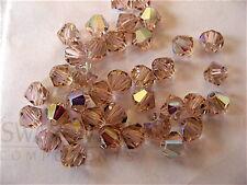 24 Vintage Rose AB Swarovski Beads Bicone 5328 4mm
