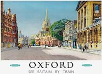 TU42 Vintage Oxford Railway British Railways Travel Poster Print A2/A3