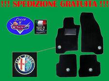 TAPPETINI tappeti Alfa Romeo 159 SU MISURA con 4 loghi e battitacco in gomma