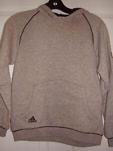 Adidas Youth Hoody Gray/Black Size S