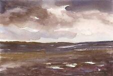Ryedale Moor ORIGINAL WATERCOLOUR PAINTING Landscape Steve Greaves Art Artwork