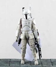 """Star Wars Bounty Hunter Boba Fett White 6"""" Loose Action Figure"""