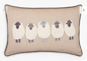 John Lewis - 100%  Cotton Cushion Covers Knitted Sheep - Nordic - Farm - Country