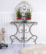 Console Table Metal Tray Wall Side Iron