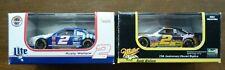 Pair of Revell NASCAR #2 Rusty Wallace Miller Lite & MGD Race Cars COA 1:64