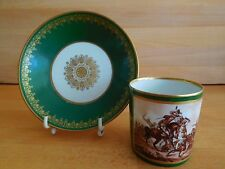 SEVRES FIRST EMPIRE CUP AND SAUCER WITH THE NAPOLEONIC BATTLE OF JENA C 1810