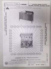 Vintage Sams Photofact Folder Radio Parts Manual Catalina 122-1417A 122-1418A...