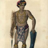 Sulawesi Indonesia Celebes Islands native 1834 world culture ethnography print