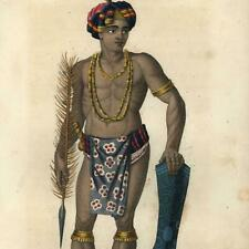 Sulawesi Indonesia Celebes Islands native 1834 world culture ethnography print