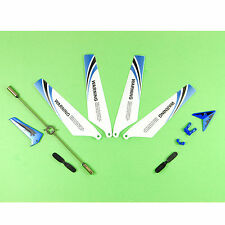 Replacement Spare Parts for Syma S107 RC Helicopter Quad Main Blades Blue Set