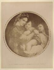 Photo du tableau La Vierge à la chaise de Raphaël Italie Vintage albumine