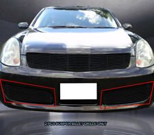 Fits 2003-2004 Infiniti G35 Sedan Black Billet Grille Grill Bumper