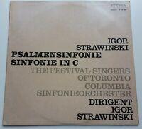 Strawinsky Psalmensinfonie Columbia Sinfonieorchester Eterna Stereo 826089