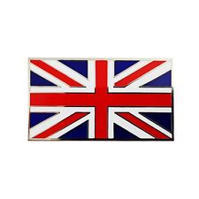 Union Jack Flag Adhesive Enamel Metal Badge For Classic Cars UJB007