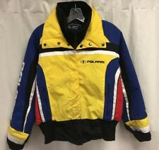 Vintage Polaris Snowmobile Racing Embroidered Sleeve Spell Out Jacket  Womens M