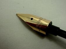 PARKER - 75.....  SPARE PART ...... 14K  GOLD NIB UNIT.... FINE  POINT....