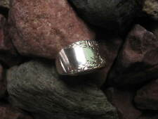 Spoon Ring R249 Size 8.5 1937 Rose and Leaf Antique