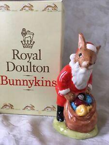 Santa Bunnykins Christmas Royal Doulton Porcelain Figurine DB17 1989 w/Box