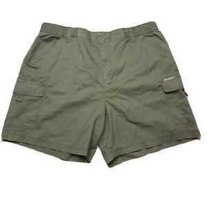 Columbia Womens XL Cargo Hiking Shorts Green Khaki