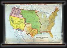 1940 Denoyer-Geppert Wall Map of Land Purchases by the United States