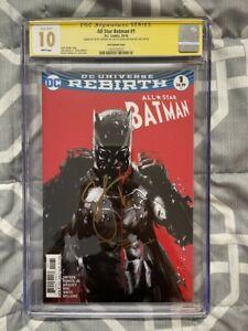 ALL STAR BATMAN #1 CGC 10.0 GEM SIGNED SCOTT SNYDER & DECLAN SHALVEY