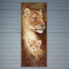 Lion mère et bébé 5D Peinture de diamant broderie bricolage point de croix décor