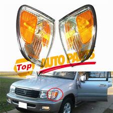 Corner 1 Pair Front L+R Turn Signal Light Fit For 1998-2007 Toyota Lexus LX470