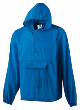 Augusta Sportswear Packable Half-Zip Pullover Jacket 3130 S-3XL Hooded Rain Coat
