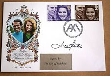 ROYAL WEDDING 1973 PHILART FDC SIGNED BY THE EARL OF LICHFIELD