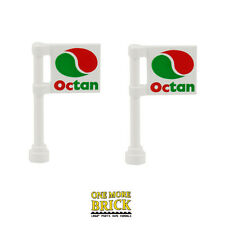 LEGO Octan Flags - Petrol Station Garage Oil Flag Signs - Pack of 2 - NEW