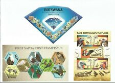 More details for botswana - 15 items - miniature sheet collection - mnh