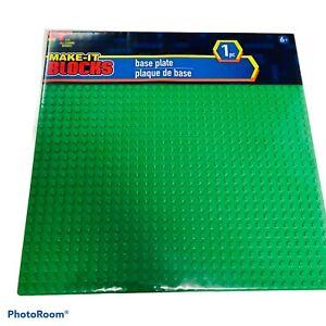MAKE-IT BLOCKS GREEN 10x10 32x32 Stud Fits Brick Brands Base Plate Baseplate NEW