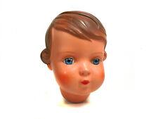 """Vintage celluloid doll head """"Inge"""", size 34, turtle mark, Schildkröt"""