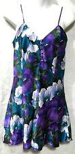Cacique Lingerie Size S Floral Satin Teddie Sleepwear Beautiful colors
