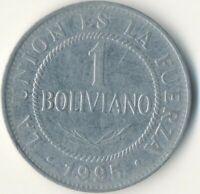 COIN / BOLIVIA / 1 BOLIVIANO 1995      #WT9037