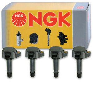 4 pcs NGK Ignition Coil for 2006-2011 Honda Civic 1.8L L4 - Spark Plug Tune to