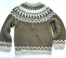 Icelandic Hand Knit Wool Sweater Brown Chunky