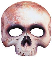 Half squelette Masque en tissu NEUF - Carnaval Masque Face