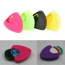 1pc Durable Plactic Guitar Pick Plectrum Holder Case Box Triangle Shaped HU