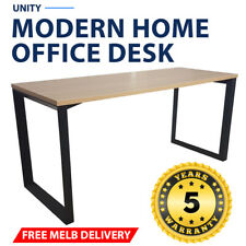 Unity Modern Home Office Desk Black Frame New Oak Desk Top