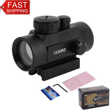 For Pistol Dot Sight Scope Red Green Laser With 2 Covers 20mm + Battery Se