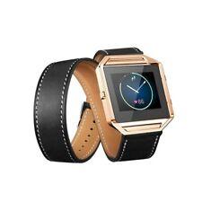 NL AL152-BL Infinity Leer Armband voor Fitbit Blaze zonder behuizing Zwart