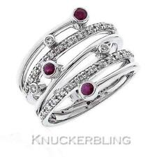 Wedding Band Ruby White Gold Fine Rings